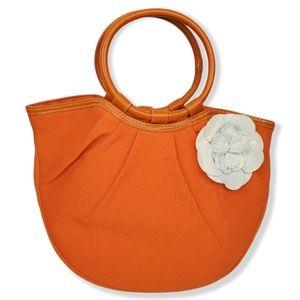 Neiman Marcus Orange Mini Tote Bag Purse